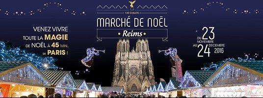 marché de noel a reims cathédrale