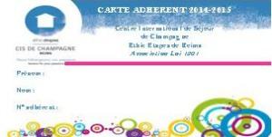 CARTE ADHESION