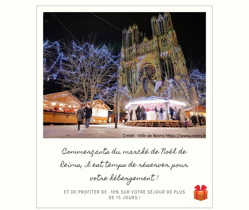 L'hébergement idéal lors du marché de Noël de Reims